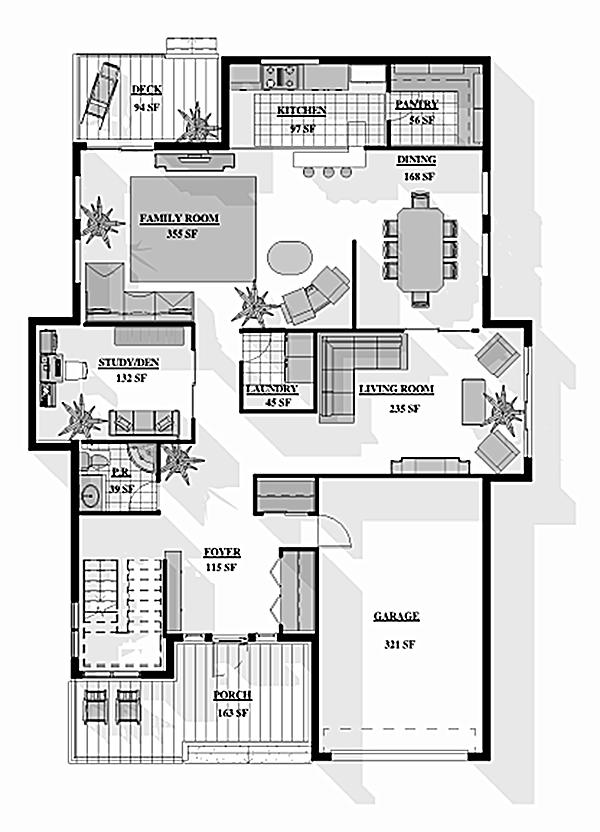 Floor plans rendering for Rendered floor plan