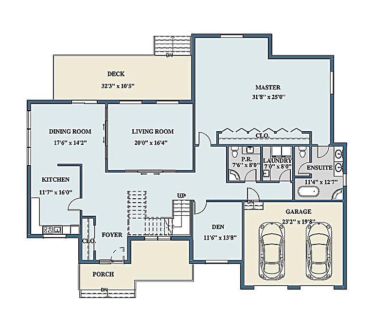 Floor plans rendering for Color floor plans